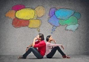 To mennesker tenker
