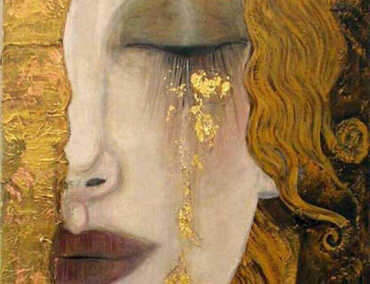 kvinne grater gull