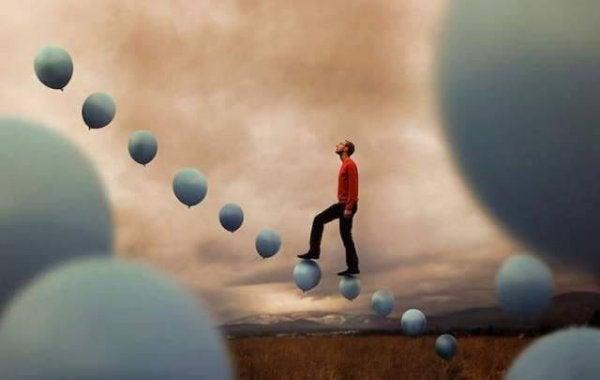 trapp av ballonger