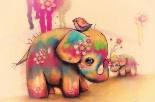 Fargerik elefant