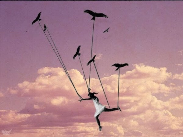 fugler baerer kvinne