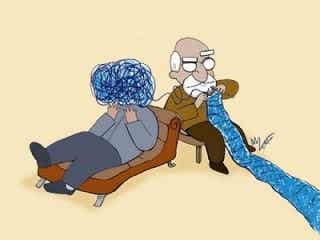 Jeg går til en psykolog, og jeg er ikke gal