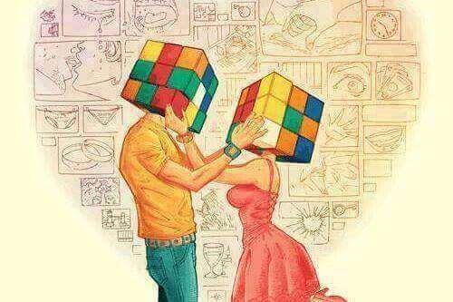 par med rubiks kube-hoder