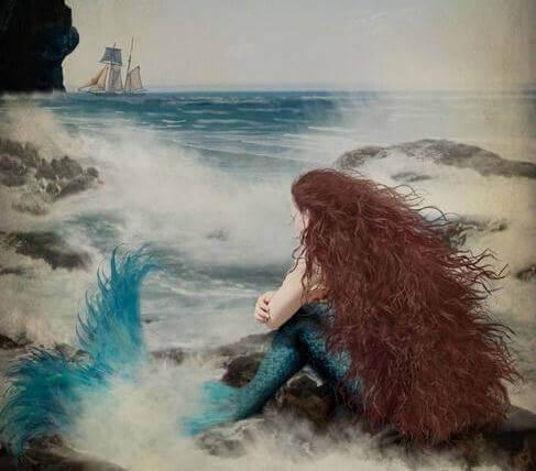 Havfrue ved havet