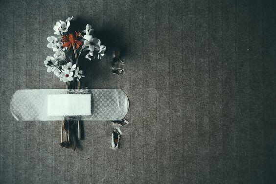 Plaster holder blomster
