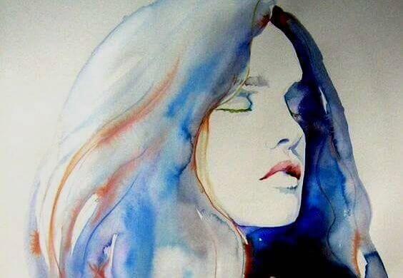 Akvarell-portrett