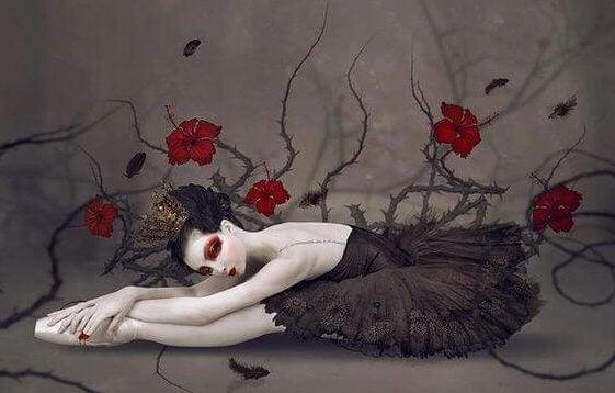 ballettdanser i svart kjole