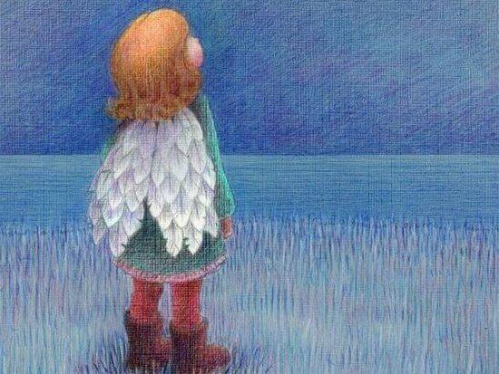 Jente med vinger