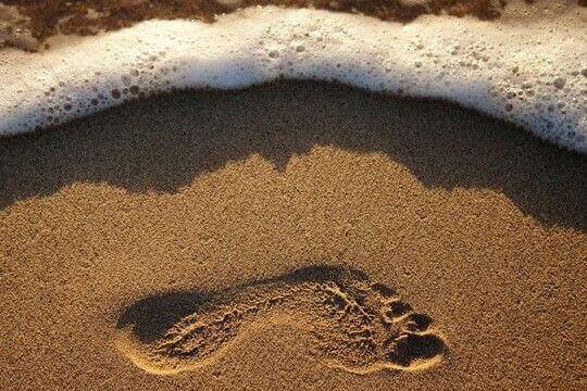 Fotavtrykk i sanden