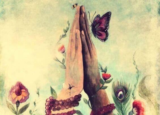Beende hender og sommerfugler