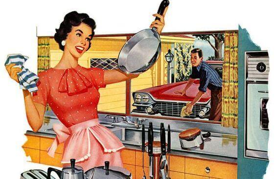 Husmor på 50-tallet