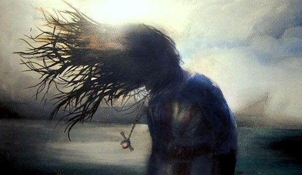 Kvinne i vinden