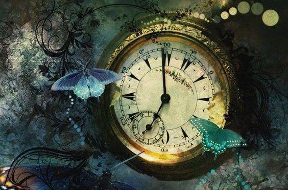 Klokke og sommerfugler