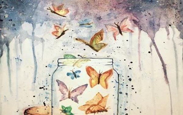 Det som tilbys helhjertet, blir multiplisert: krukke med sommerfugler