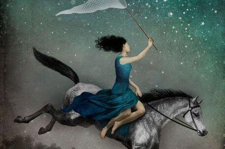 Kvinne på hest