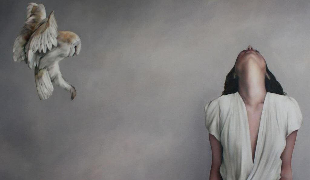 Ugle og kvinne