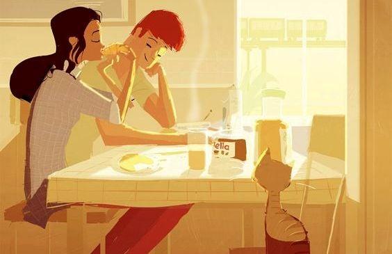 Partneren min «hjelper meg» ikke hjemme: vi samarbeider