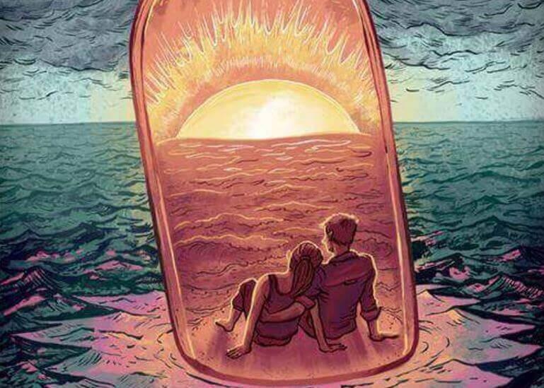 Par i solnedgangen