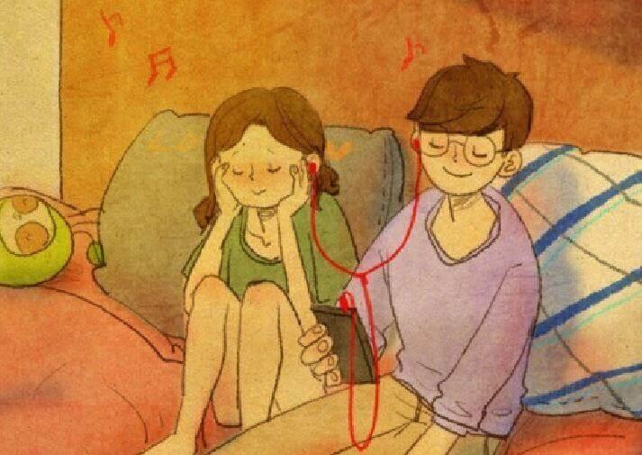 Par lytter til musikk