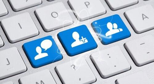 Sosiale nettverk-taster