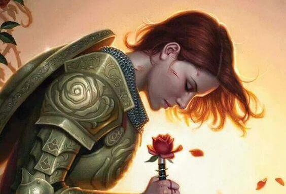Kvinne i rustning
