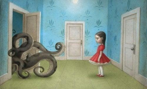 Giftige barn: voksne er ikke de eneste - Jente med blekksprut