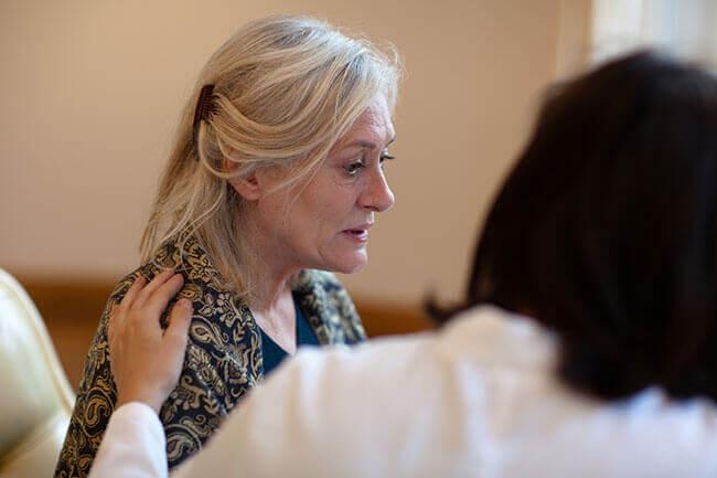 Kvinne med faresignaler på Alzheimers