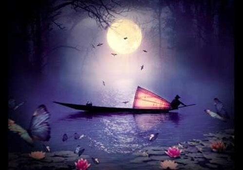 Båt om natten