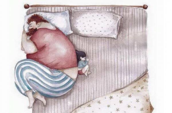 Foreldre og barn: avtrykket ved å bli forlatt av en forelder