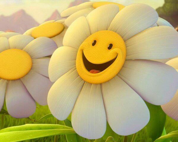 Glad blomst