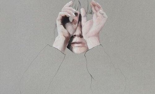 Jente med hodepine