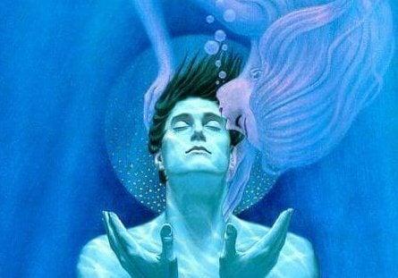 Mann under vann