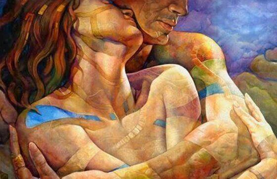 sann kjærlighet omfavnelse