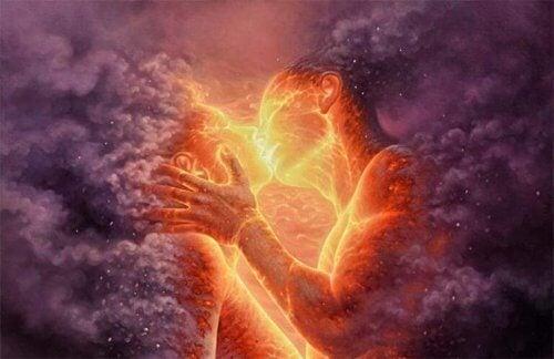 Mann og kvinne av lava