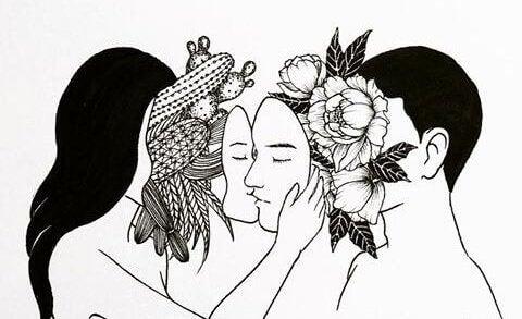 Par med masker