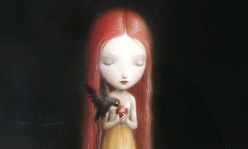 Giftige barn: voksne er ikke de eneste - Trist jente, fugl spiser hjerte