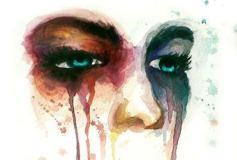 Triste akvarelløyne