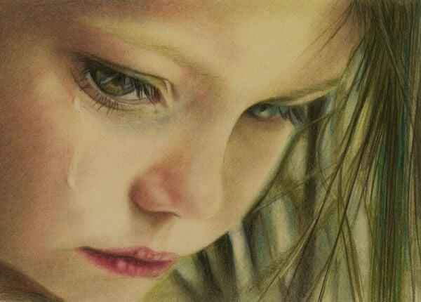 Barn som har blitt seksuelt misbrukt gråter
