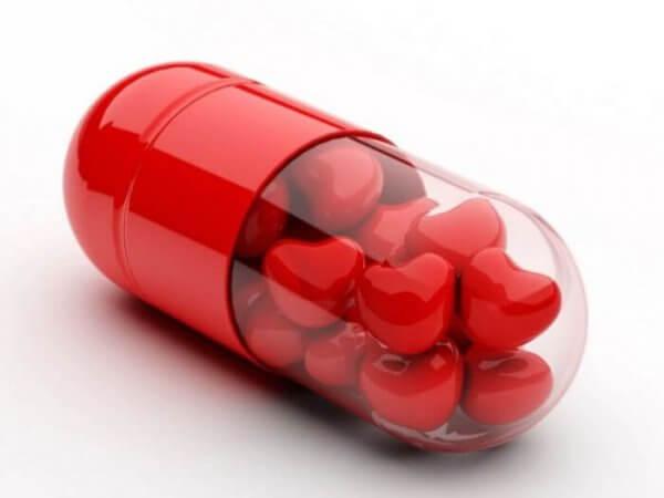 Hjerteformede piller