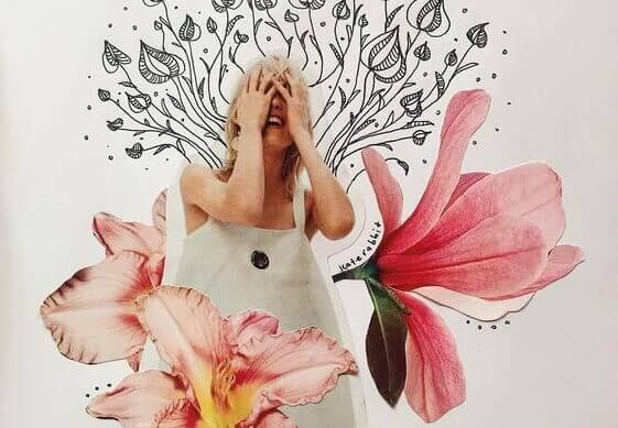 Ben Giles: kvinne som har et magisk øyeblikk, ler i hendene,
