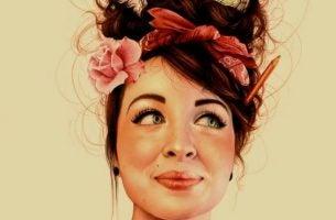 Glad kvinne sier ja uten frykt