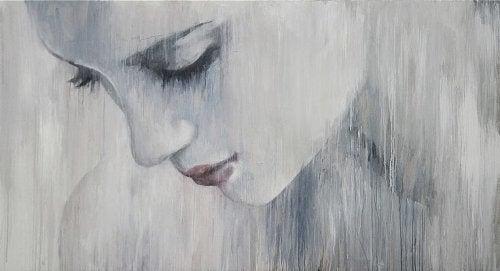 Tapperhet og lidelse - trist kvinne
