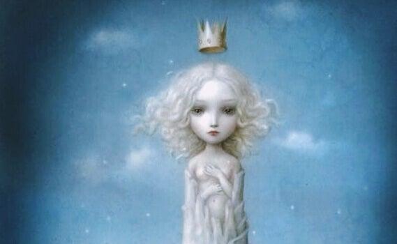 Jente med krone