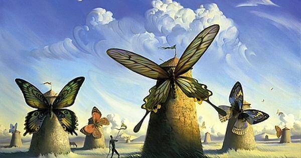 Sommerfugler på vindmøller