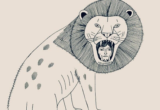 Kvinne i løvemunn