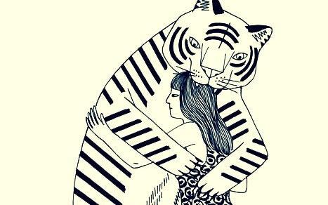 Kvinne og tiger i giftig vennskap