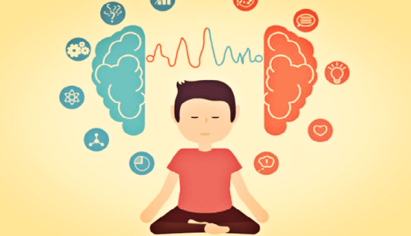 Person mediterer