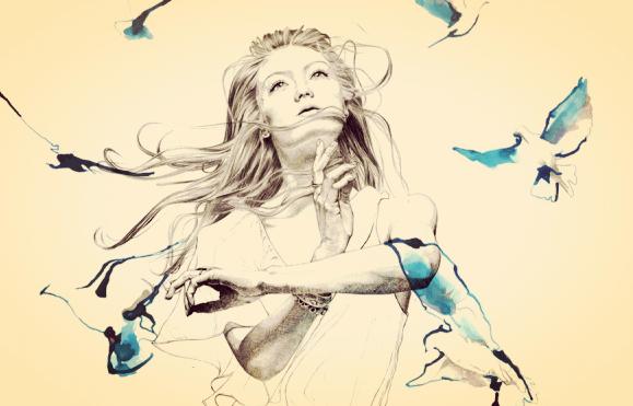 Kvinne med fugler er hovedpersonen i sin historie