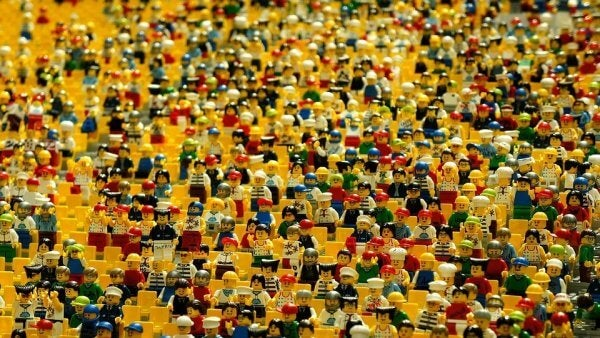 en mengde lego-folk