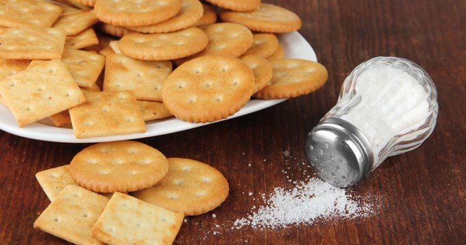 salt med kjeks